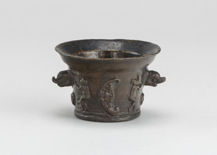 Image for Mortar with Sun, Moon, and Dolphin-shaped Handles