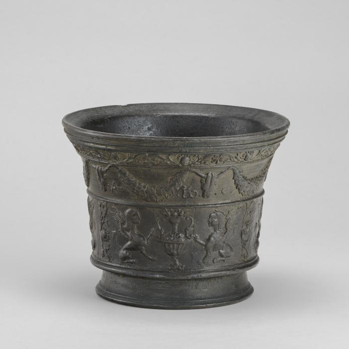 Image for Mortar with Sphinxes and Vases
