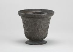 Image for Mortar with Birds, Cherubim, Armorial Shield, and Festoons