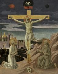 Image for The Crucifixion with Saint Jerome and Saint Francis