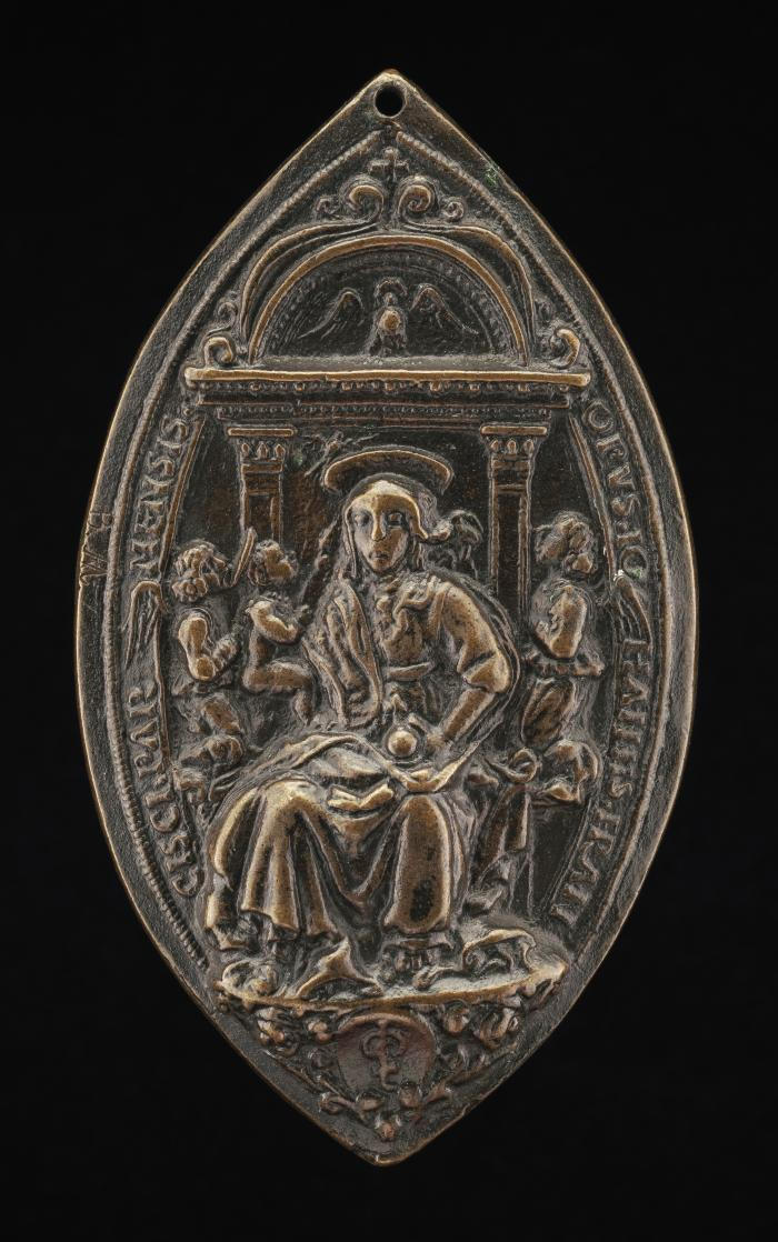 Image for The Virgin and Child with Two Angels