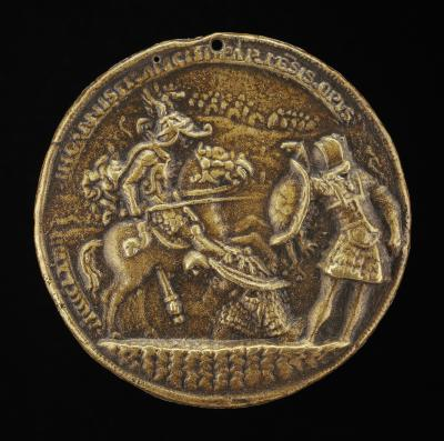 Image for Two Soldiers Fighting with a Horseman