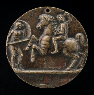Image for Warrior and Horseman Fighting