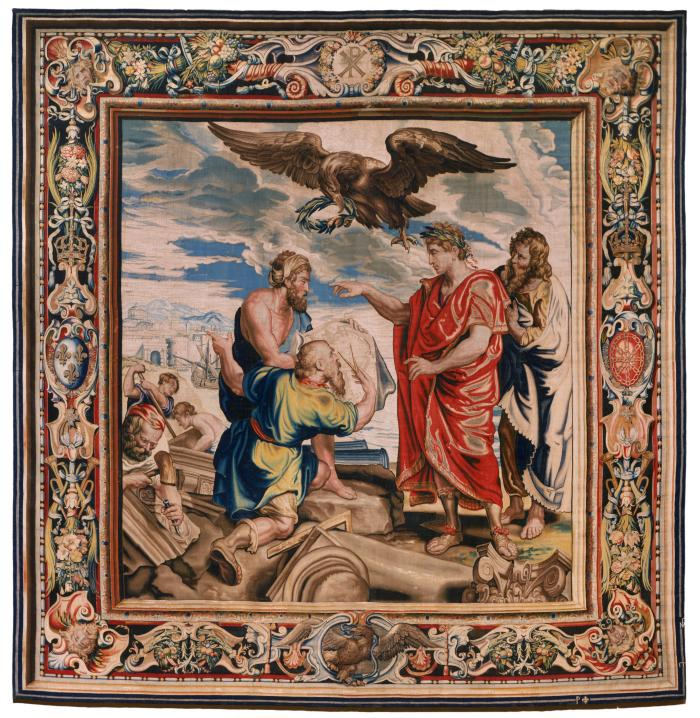 Image for Tapestry showing Constantine Directing the Building of Constantinople