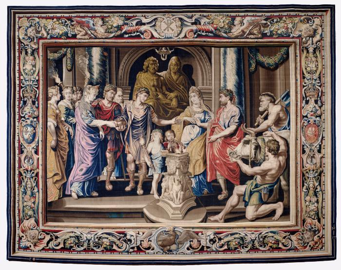 Image for Tapestry showing the Marriage of Constantine and Fausta