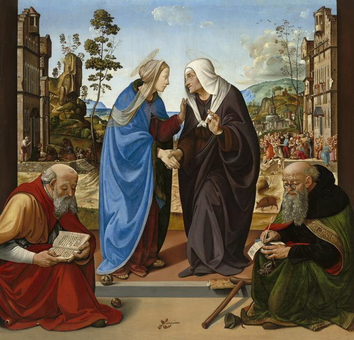 Image for The Visitation with Saint Nicholas and Saint Anthony Abbot