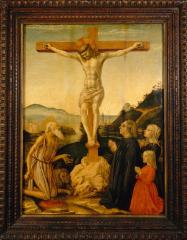 Image for The Crucifixion with St. Jerome, Donor, and His Family