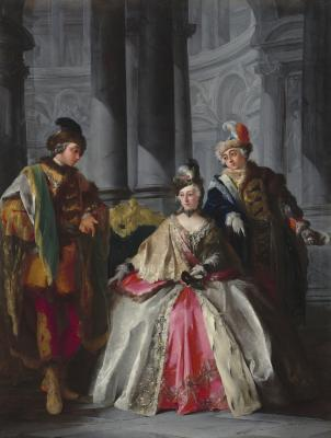 Image for Three Figures Dressed for a Masquerade