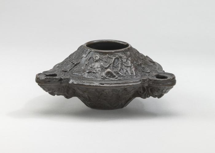 Image for Three Wick Lamp with Bacchic Scenes