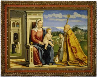 Image for Madonna and Child with Saint Ambrose