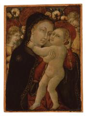 Image for Madonna and Child with Two Angels before a Rose Hedge