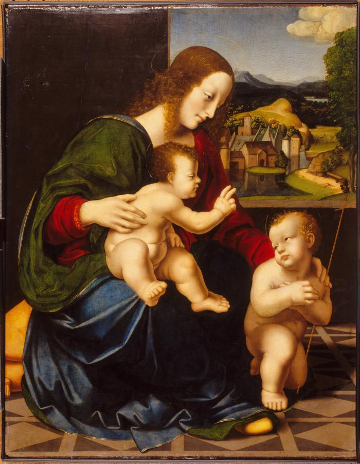 Image for Virgin and Child with Saint John the Baptist