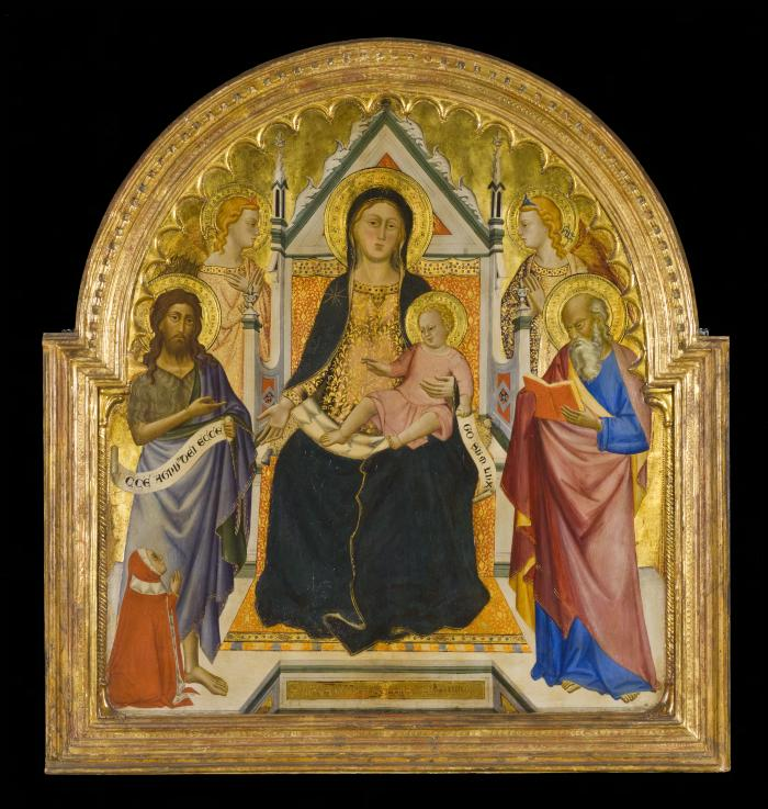 Image for Madonna and Child Enthroned with Saints John the Baptist and Paul (?)