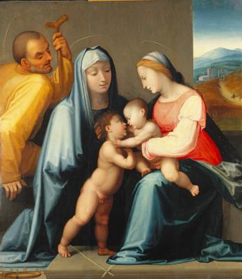 Image for The Holy Family with Saint Elizabeth and the Infant Baptist