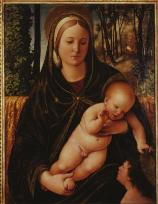 Image for Madonna and Child with St. John the Baptist