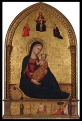"""Image for Madonna and Child with the Holy Trinity and the Annunciation; Anonymous Martyr Saint; Resurrection, """"Noli me tangere"""""""