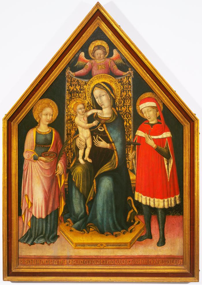 Image for Madonna and Child Enthroned Between Saints Lucy and Eligius