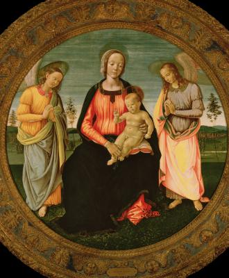 Image for Madonna and Child with Two Angels