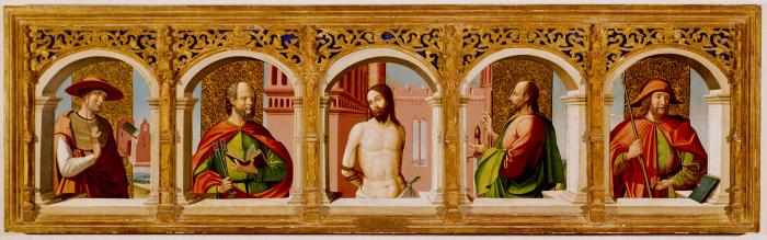 Image for Christ at the Column with Saints Jerome, Peter, Paul and James