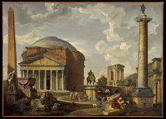 Image for Fantasy View with the Pantheon and other Monuments of Ancient Rome