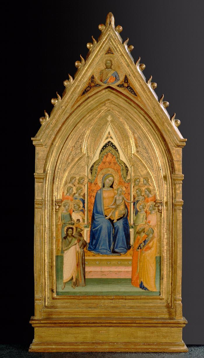Image for Madonna and Child Enthroned with Eight Saints and Eight Angels