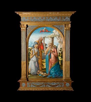 Image for Adoration of the Child with St. Jerome