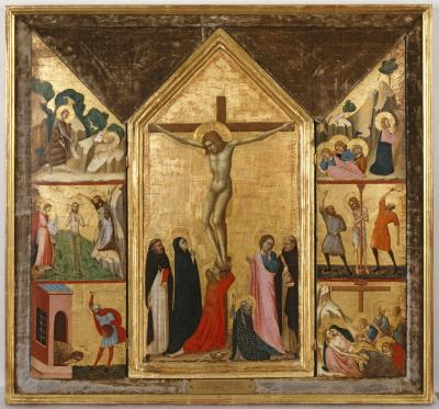 Image for The Crucifixion with Scenes from the Passion and the Life of Saint John