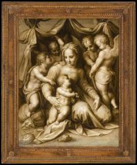 Image for Madonna & Child with Saint John the Baptist and Three Angels