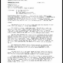 Image for K2125 - Examination summary, 1991