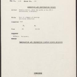 Image for K1247 - Condition and restoration record, circa 1950s-1960s