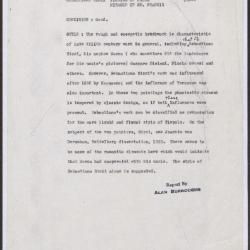Image for K0163 - Alan Burroughs report, circa 1930s-1940s