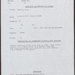 Image for K0163 - Condition and restoration record, circa 1950s-1960s