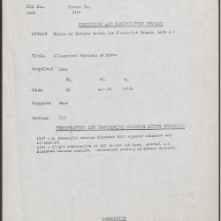 Image for K2154 - Condition and restoration record, circa 1950s-1960s