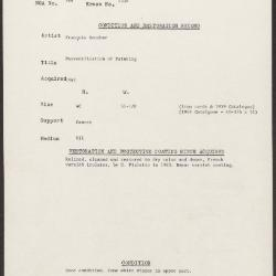 Image for K1336 - Condition and restoration record, circa 1950s-1960s