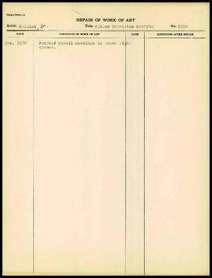 Image for K1628 - Work summary log, 1970