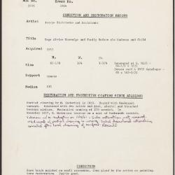 Image for K1964 - Condition and restoration record, circa 1950s-1960s