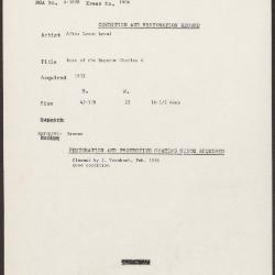 Image for K1906 - Condition and restoration record, circa 1950s-1960s
