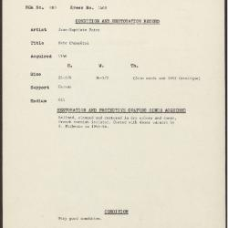Image for K1408 - Condition and restoration record, circa 1950s-1960s