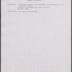 Image for K1421 - Art object record, circa 1930s-1950s