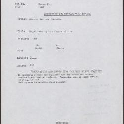 Image for K1810 - Condition and restoration record, circa 1950s-1960s