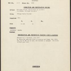 Image for K1248 - Condition and restoration record, circa 1950s-1960s