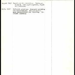 Image for K1407 - Work summary log, 1947