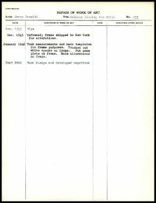 Image for K0287 - Work summary log, 1943-1956
