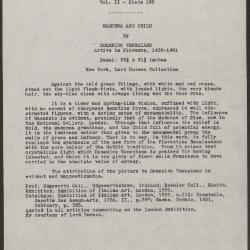 Image for K0410 - Expert opinion by L. Venturi, circa 1930s-1940s