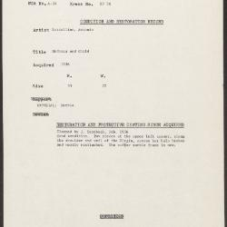 Image for KSF05G - Condition and restoration record, circa 1950s-1960s