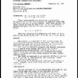 Image for K1835 - Examination summary, 1988