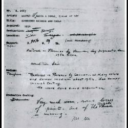 Image for K2063 - Condition and restoration record, circa 1950s-1960s