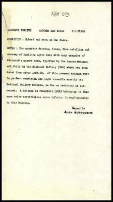 Image for K0479 - Alan Burroughs report, circa 1930s-1940s