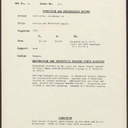 Image for K1311 - Condition and restoration record, circa 1950s-1960s