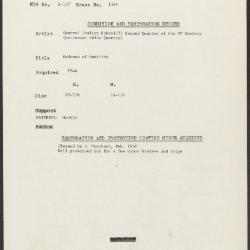 Image for K1384 - Condition and restoration record, circa 1950s-1960s